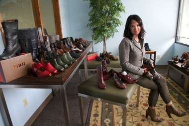 TIGARD, OREGON -- Dorota Sinclair, who came to the U.S. as physical therapist, turned her fashion sense into an importing and distribution business. Her business, now five years old, sells 30,000 pairs of shoes a year.