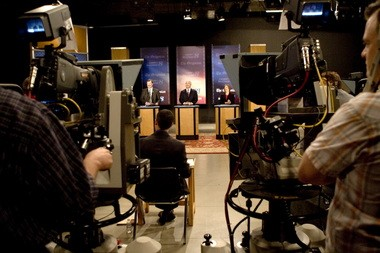 This 2011 Oregonian photo shows the KGW studios during a live political debate featuring Brad Witt, Brad Avakian and Suzanne Bonamici. KGW's parent company Belo was just purchased by Gannett, owners of the Statesman Journal newspaper, for $1.5 billion in cash.