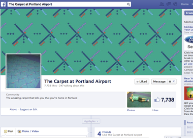The community of the carpet also gathers on Facebook.