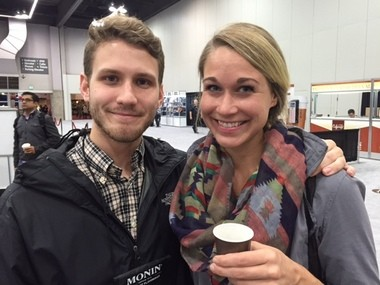 Siblings Matt and Bethany Brueggen attended Coffee Fest 2015 in Portland hoping to get some pointers on the challenges of opening a specialty coffee shop.