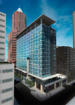 A rendering of the Porter Hotel, designed by Atlanta-based HC Architecture.