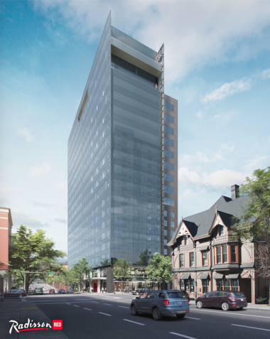 A rendering of the 19-story tower proposed for Southwest Broadway between Southwest Columbia and Southwest Clay streets.