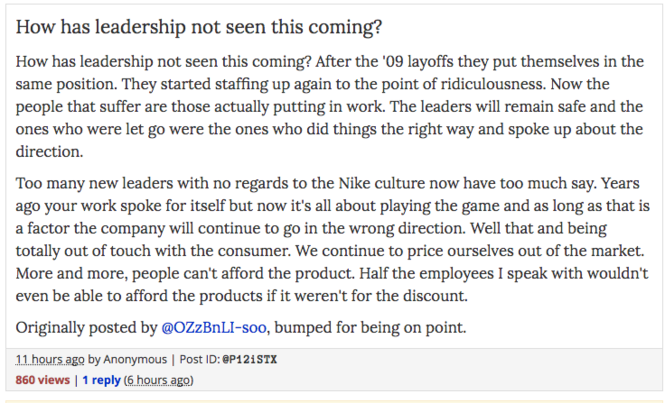 Nike layoffs: Nervous employees await dreaded HR email