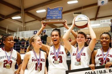Nike's sponsorship deal with Southridge High School of Beaverton includes shoes for players and coaches, as well as warm-ups and bags. The girls went 25-0 against Oregon teams this year en route to their seventh state title since 2005.