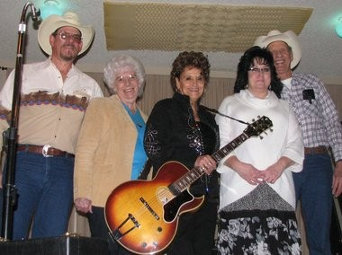 The Heartland Classic Country Band features Ron Gaskill (from left), Earleen Gaskill, Barb Hill, Chery Phillips, and Virgil Gaskill.