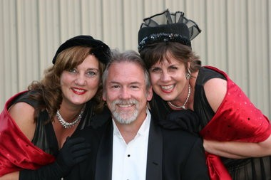 Two sisters and a Mr., featuring Terry Scott (from left), David Erickson and Laura Erickson, will perform March 2 the Milwaukie Ledding Library.