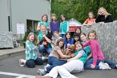 The Girl Scouts helped out at a Clackamas County Dog Services event.