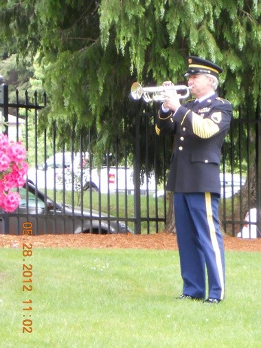 This will be the 44th year that bugler Randy Leasure has perform Taps for the Memorial Day ceremony at the Mountain View Cemetery in Oregon City.