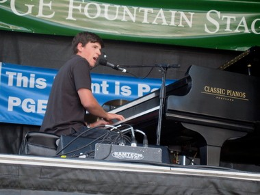 Piano man Brady Goss performs June 7 at the Sandy Public Library.