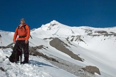 Author Jon Bell on Mount Hood.