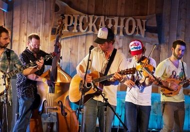 Bradford Lee Folk & The Bluegrass Playboys perform in the Galaxy Barn during Day 3 of last year's Pickathon music festival in Happy Valley.