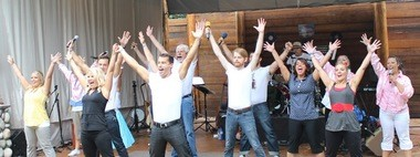 The Aspen Meadow Band will perform Saturday and Sunday, Aug. 23-24, at Aspen Meadow. Their concerts also feature a woman who does sign language for their hearing-impaired fans.