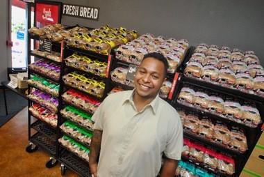 Andre Eddings at Dave's Killer Bread in Milwaukie.