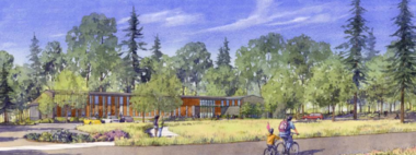 A sketch of the Northern view of the reject $10 million library.