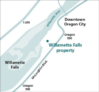 The Blue Heron redevelopment plan includes a new river trail that will offer the first up-close view of Willamette Falls in more than a century.