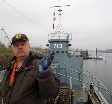 """Dave McKay, historian of the Amphibious Forces Memorial Museum, calls the restoration of a World War II LCI 713 infantry landing craft a """"labor of love."""""""