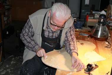 Mark Moreland typically takes about two weeks to handcraft a violin, from wood he picks out specifically for each custom order. A Moreland violin typically sells for about $15,000.