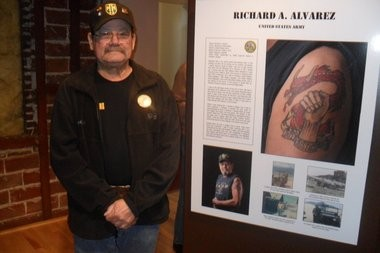 """""""I had no desire to get a tattoo early on but I thought about it for a long time,"""" says Vietnam veteran Richard Alvarez of Vancouver. """"I have a lot of pride today."""""""