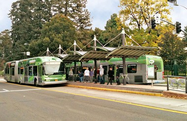 The C-Tran board wants to move forward on building a bus rapid transit system that would use bigger, faster buses like these in Eugene.