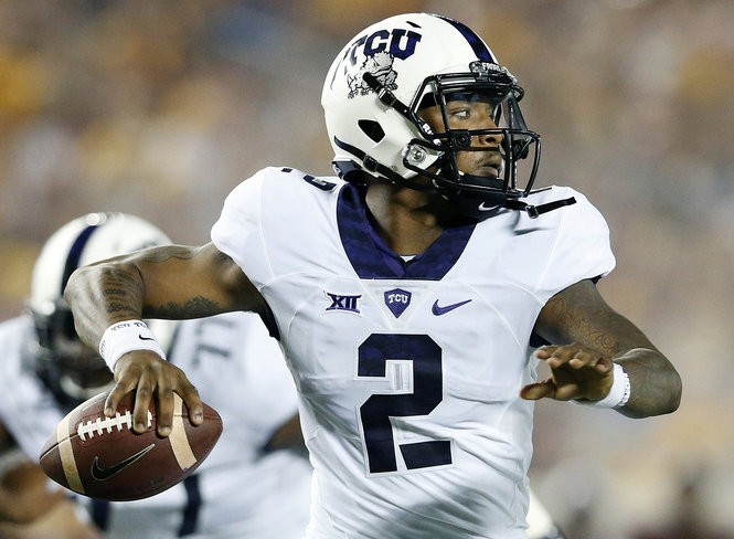 Texas Christian quarterback Trevone Boykin is eighth nationally with 31 passing touchdowns and 14th with 3,575 passing yards this season.