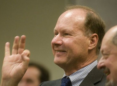 Neil McFarlane on the day in 2010 when he was named TriMet general manager. McFarlane has apologized for the lack transparency with a recent round of executive and management pay raises.