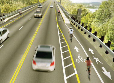The new BTA blueprint calls for separated cycle tracks and buffered bike lanes along Southwest Barbur Boulevard.