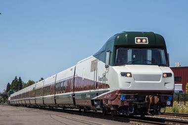 The Mt. Bachelor Talgo 8 train.
