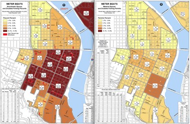 PBOT is expected to formally release maps and data Thursday showing how the use of disabled placards has plummeted in downtown Portland since July 1.
