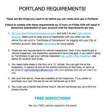 Lyft and Uber will start operating (legally) in Portland on Friday