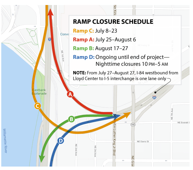 Portland Metro Friday Traffic: Final I-84 ramp closure
