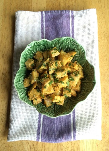 Sweet Potato Salad With Peanut-Curry Dressing.