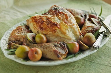 Roasted Turkey Parts With Gravy, a faster way to make Thanksgiving dinner.