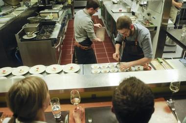 Holdfast Dining is Will Preisch (right) and Joel Stocks's underground restaurant at downtown Portland's KitchenCru.