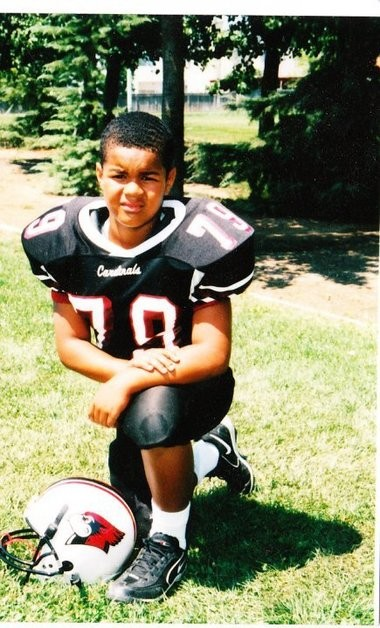 Arik Armstead, here during his Pop Warner days, at an early age always saw himself as a defensive lineman first and foremost.