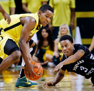 Oregon's Dominic Artis (left) has missed the last five games with a foot injury and appears unlikely to play this week.