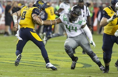 Ducks defensive lineman DeForest Buckner won't be able to wear this kind of facemask in 2015.