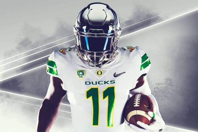 half off 751fa 7f324 Oregon Ducks to wear white and chrome uniforms against ...