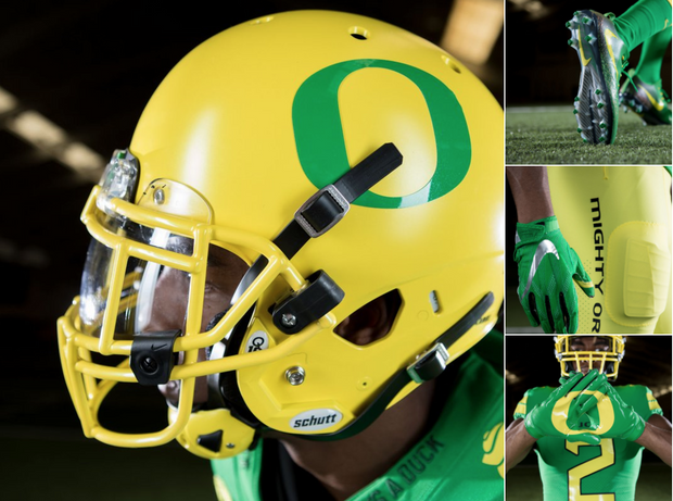 official photos 4bfb9 1ef84 Oregon Ducks to wear green and yellow uniforms against ...