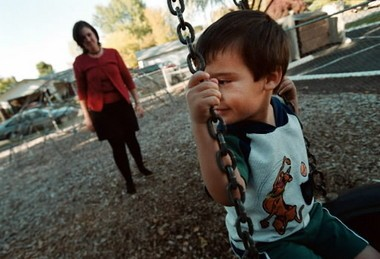 Vicki Gonzalez says her son Alex gets sad when he sees other children with their fathers. Vicki's husband Luis, a Mexican native, applied for permanent residency but had to leave the country or face a three-year ban from the country.