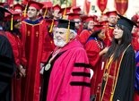 Crew took two paid work days to travel to Los Angeles for the University of Southern California's graduation. He taught at USC for three years before accepting the chief education job in Oregon.