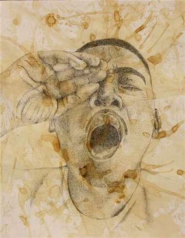 """""""Ib Tired,"""" a drawing meant to show how exhausting it can be to pursue a full International Baccalaureate, or IB, diploma, won a gold medal for its creator, IB student Alfonso Calixto of Woodburn."""