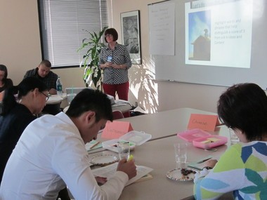 The Multnomah Education Service District is leading a project to develop state work samples in new languages. Here the Chinese, Vietnamese and Spanish teams work to make the new assessments. (Photo Courtesy Judy Custy)