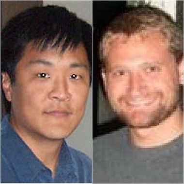 Brain researcher Edward Awh, left, says he must retract four research papers published in academic journals because UO grad student David E. Anderson, right, fabricated research results.