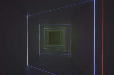 """Installation shot of Chris Fraser's """"In Passing"""" at Disjecta"""