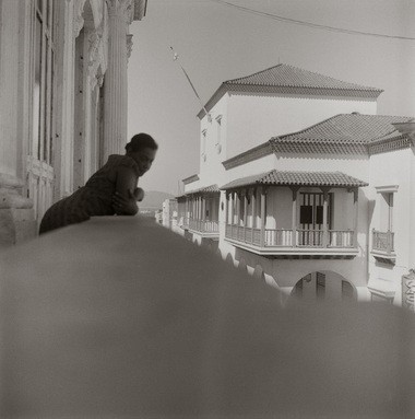 Carrie Mae Weems, Listening for the Sounds of Revolution from Dreaming in Cuba, 2002, Gelatin silver print, Courtesy of the artist and Jack Shainman Gallery, New York.