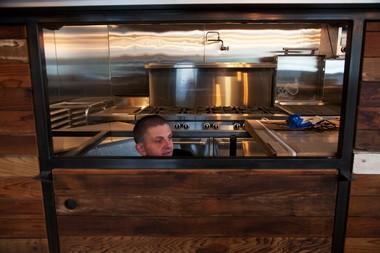 Morgan Brownlow helping to set up the Tasty N Alder kitchen last month.