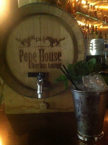 The mint julep at Pope House Bourbon Lounge.