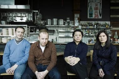 Kurt Huffman, Andy Ricker and John and Janet Jay at Ping in this 2009 file photo.