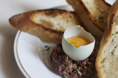 Beef tartare from Thistle in McMinnville.