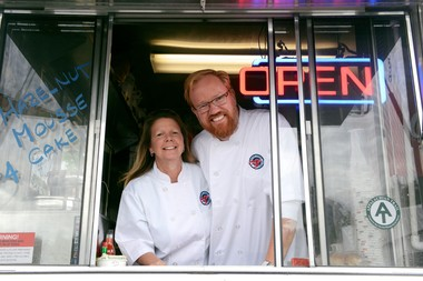 Cathy Evanson and David Beavers, owners of Maine Street Lobster Company.